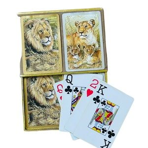 Vintage 1960 Congress Playing Cards Lion Series